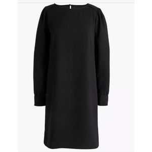 J. Crew Long Sleeve Shift Dress in Every Day Crepe
